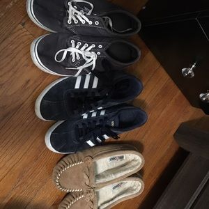 Vans, adidas and moccasin shoes